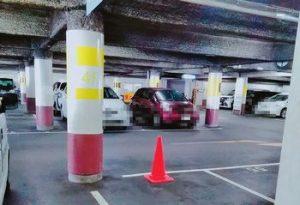 マルナカパーキングの駐車場内様子