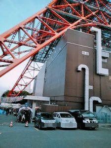 東京タワーの駐車場