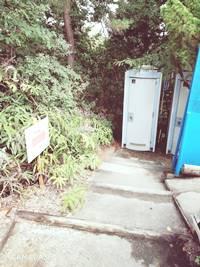 浜北森林アスレチックコース31ポイント目簡易トイレ