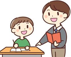明光義塾の塾講師から生徒に声掛けをする